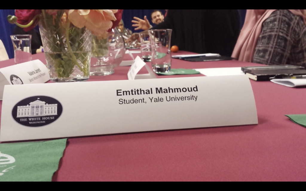 Emi Mahmoud and Valerie Jarret at Roundtable