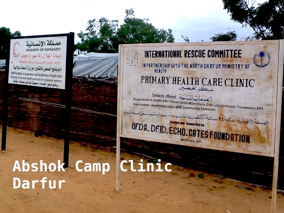 Outside Abshok Camp Clinic Emi Mahmoud